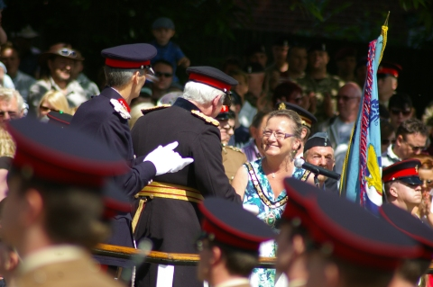 The Mayor gives REME the Freedom of the Town