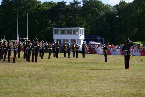 Band of Royal Logistic Corps Beating the Retreat